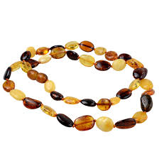 flat olive baltic amber necklace