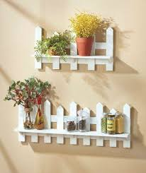 Wooden Fence Shelves White Natural Traditional Picket Fence Wall Decor Ebay Babynurserydecor Wooden Wall Decor Decor Wall Deco