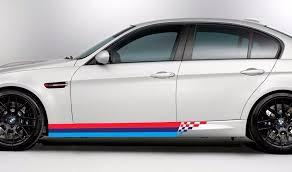 Product Bmw M Colors Checkered Stripes Side Door M3 M5 M6 E92 E46 E Vinyl Decal Sticker