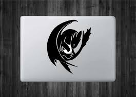 Toothless Dragon Inspired Vinyl Decal With Glowing Lightning Ball Azvinylworks