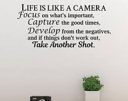 Camera Wall Decal Etsy