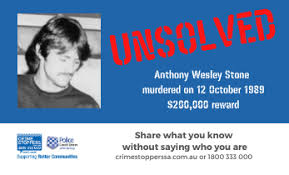 The unsolved murder of Anthony Wesley Stone