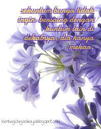 quote hari ini belajar dari bunga