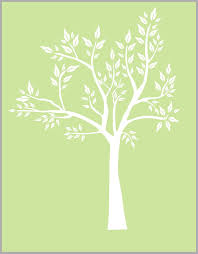 White Tree Decal Large Tree Wall Decal Baby Tree Sticker Forest Nurserydecals4you