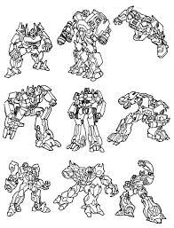 Transformers Kleurplaat Inkleuren