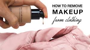 how to remove makeup from clothes