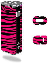 Amazon Com Eleaf Istick 30w Vape E Cig Mod Box Vinyl Decal Sticker Skin Wrap Pink And Black Zebra Stripe Design
