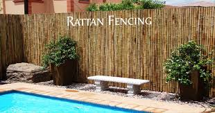 Rattan Fencing Bamboo Fence Fence Wall Design Rattan Outdoor Furniture