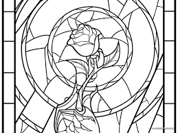 enchanted rose coloring pages