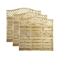 Blooma Mokcha Fence Panel 1 8m 1 8m Pack Of 3 Departments Diy At B Q