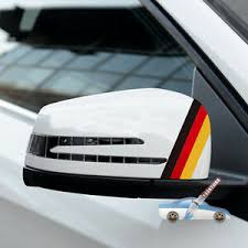 2xflag Of Germany German Car Rearview Mirror Car Decal Sticker Reflective Ebay