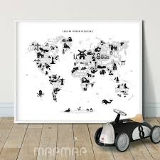 Explore Dream Discover Printable Black White World Map Wall Etsy