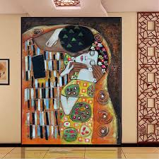 Custom 3d Photo Wallpaper Gustav Klimt The Kiss Wall Mural Room Decorative Painting Large Wall Art Living Room Bedroom Kids Room 3d Photo Photo Wallpaper3d Photo Wallpaper Aliexpress