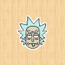 Pixel Doodle Rick And Morty Notebook Refrigerator Skateboard Trolley Case Backpack Tables Book Decal Pvc Car Sticker Car Sticker Car Decal Stickerstickers Stickers Aliexpress