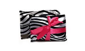 dual set zipper closure cosmetic bag