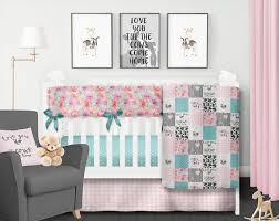 farm crib bedding set baby girl quilt