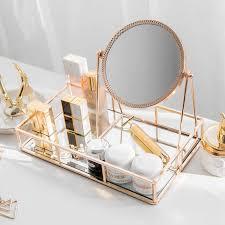 mirror vanity mirror light luxury gold