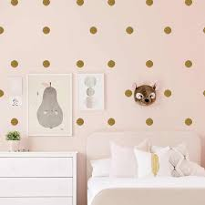 Flash Gold Round Wall Sticker For Baby Rooms Kids Rooms Girl Room Wall Decals Removable Waterproof Modern Home Decoration Aliexpress
