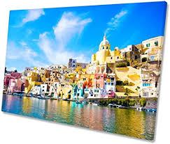 Procida Island Napoli Italia artistica da parete con stampa ...