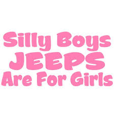 Silly Boys Jeeps Are For Girls Vinyl Dec Buy Online In Chile At Desertcart