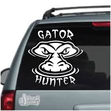 Gator Hunting Decals Stickers Decal Junky