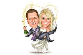draw wedding proposal honeymoon