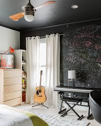Boston Chalkboard Room Divider Kids Contemporary With Black Ceiling Themed Piggy Banks Accent Wall