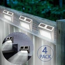 4x Led Outdoor Garden Fence Solar Power Light Waterproof Wall Lamp Modern Lights 6924517805658 Ebay