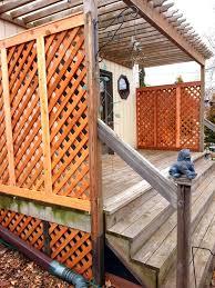 Diamond Lattice Privacy Deck Mn Fence Companymn Fence Company