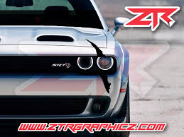 Dodge Challenger Headlight Single Claw Scratch Mark Decal Graphic Stic Ztr Graphicz