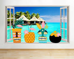 Decals Stickers Vinyl Art Home Garden Angry Tiki Wall Art Vinyl Decal Large 22x33 Choose Your Color Adrp Fournitures Fr