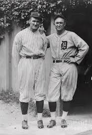 Walter Johnson And Ty Cobb by Bettmann