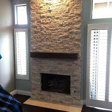 top 60 best stacked stone fireplace