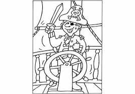 Kleurplaat Piraat Zwaait Met Zwaard Kleurplaten Piraten Thema