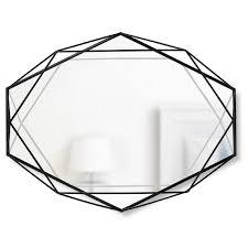 umbra prisma black wire frame mirror