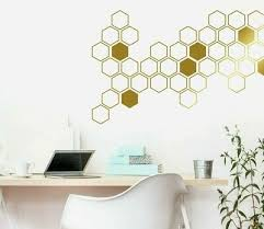 Honeycomb Wall Decals Geometric Wall Decals Gold Vinyl Decals Honeycomb Ga46 Ebay