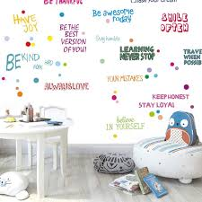 Amazon Com Bloommay Motivational Phrases Wall Decals Child Inspirational Quotes Wall Sticker Diy Removable Wall Window Positive Sayings For Kids Baby Nursery Childrens Bedroom Classroom Home Decor Art 1 Home Kitchen