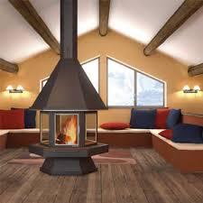 metal fireplaces built in corten steel
