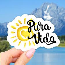 Pura Vida Laptop Sticker Vinyl Aesthetic Stickers Car Decal Sticker Water Bottle Sticker