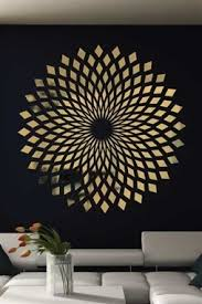 Diamond Starbust Mirror Decal Wall Art Chrome Or Gold 6 Sizes Walltat Com