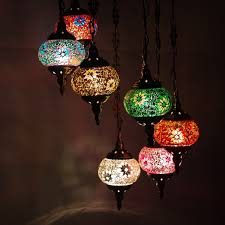 moroccan hanging lamp stained glass