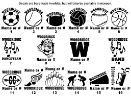 Volleyball Sports Band Window Decals Fundraiser Woodridge Athletic Booster Club