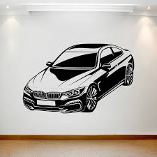 Large Bmw Car Wall Sticker Boy Room Nursery Sport Vehicle Auto Wall Decal Bedroom Playroom Viny Home Decor Wall Stickers Aliexpress