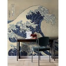 World Menagerie Meridan Retro Sea Waves Drawing Wall Mural Wayfair