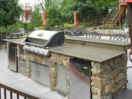outdoor kitchens fireplace stone patio