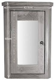 oak corner cabinet mirror bathroom
