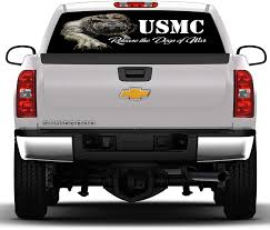Amazon Com Crabtree Signs Usmc Devil Dogs 1 17 Inches By 56 Inches Compact Pickup Truck Rear Window Graphic Please Measure Your Window Prior To Ordering Automotive