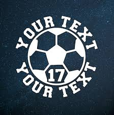 Soccer Vinyl Decal Personalized Soccer Ball Soccer Sticker Soccer Ball Decal Yeti Decal Car Deca Soccer Vinyl Decal Personalized Soccer Sports Decals