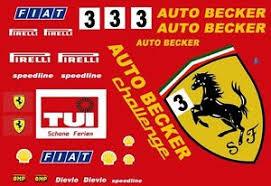 3 Auto Becker Ferrari 1 43rd Scale Slot Car Decals Ebay