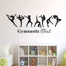 Amazon Com Soesa Vinly Art Decal Words Quotes Decal Gymnastics Charming Girl Kids Room Decor Ballet Dancer Gymnastics Poster Home Kitchen